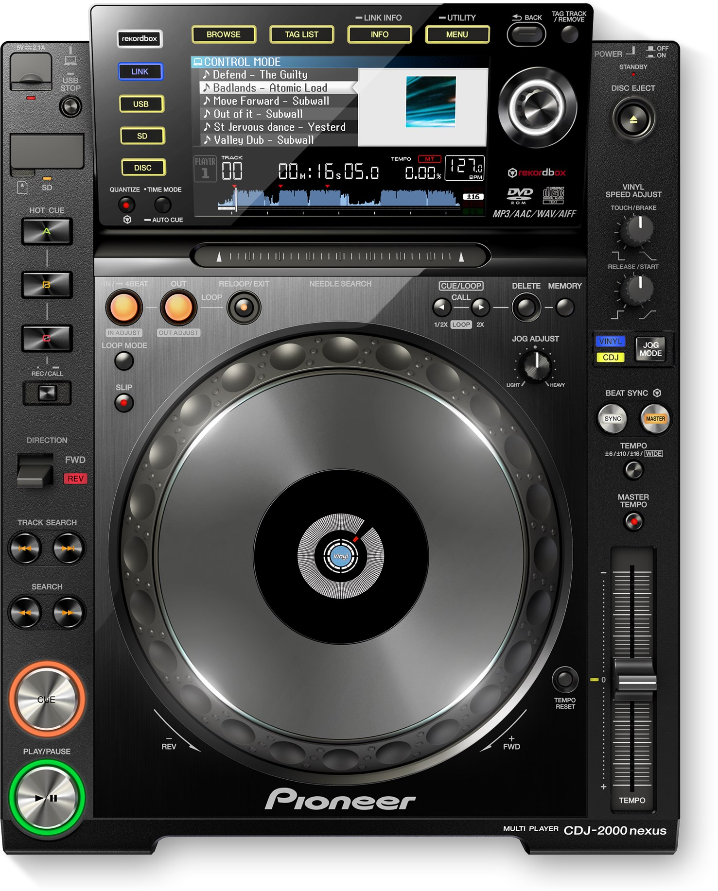 pioneer cdj 2000 nexus rent all. Black Bedroom Furniture Sets. Home Design Ideas